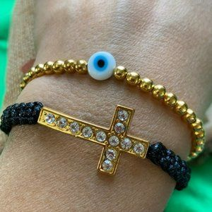 Protection evil eye 🧿 macrame bracelet set
